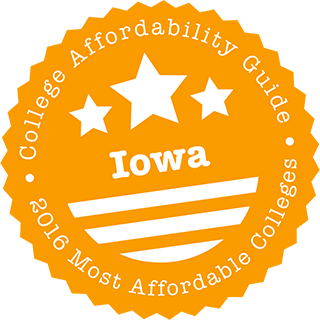 2016 Most Affordable Colleges in Iowa